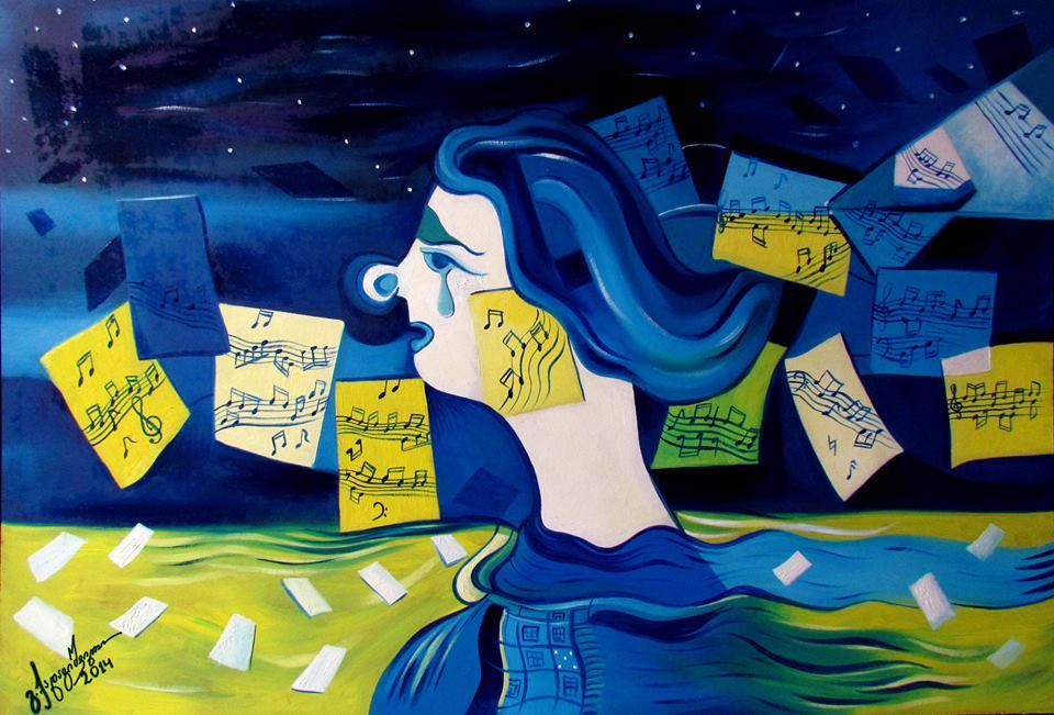 Gio Kadagishvili, Inspiration, Acrylic on Canvas, Tbilisi 2014